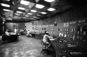 Inside the control room, 1985