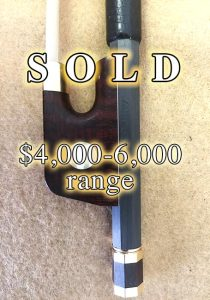 Arcus S8: Gold Viola Bow; SOLD $4,000-6,000