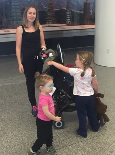 Saying goodbye to the girls at SFO airport, before their two-week adventure in London.