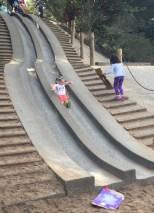 Killing it at the Golden Gate Park concrete slides, San Francisco.