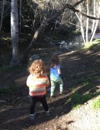 Exploring the river, Big Sur.