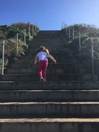 Little legs, steep steps.