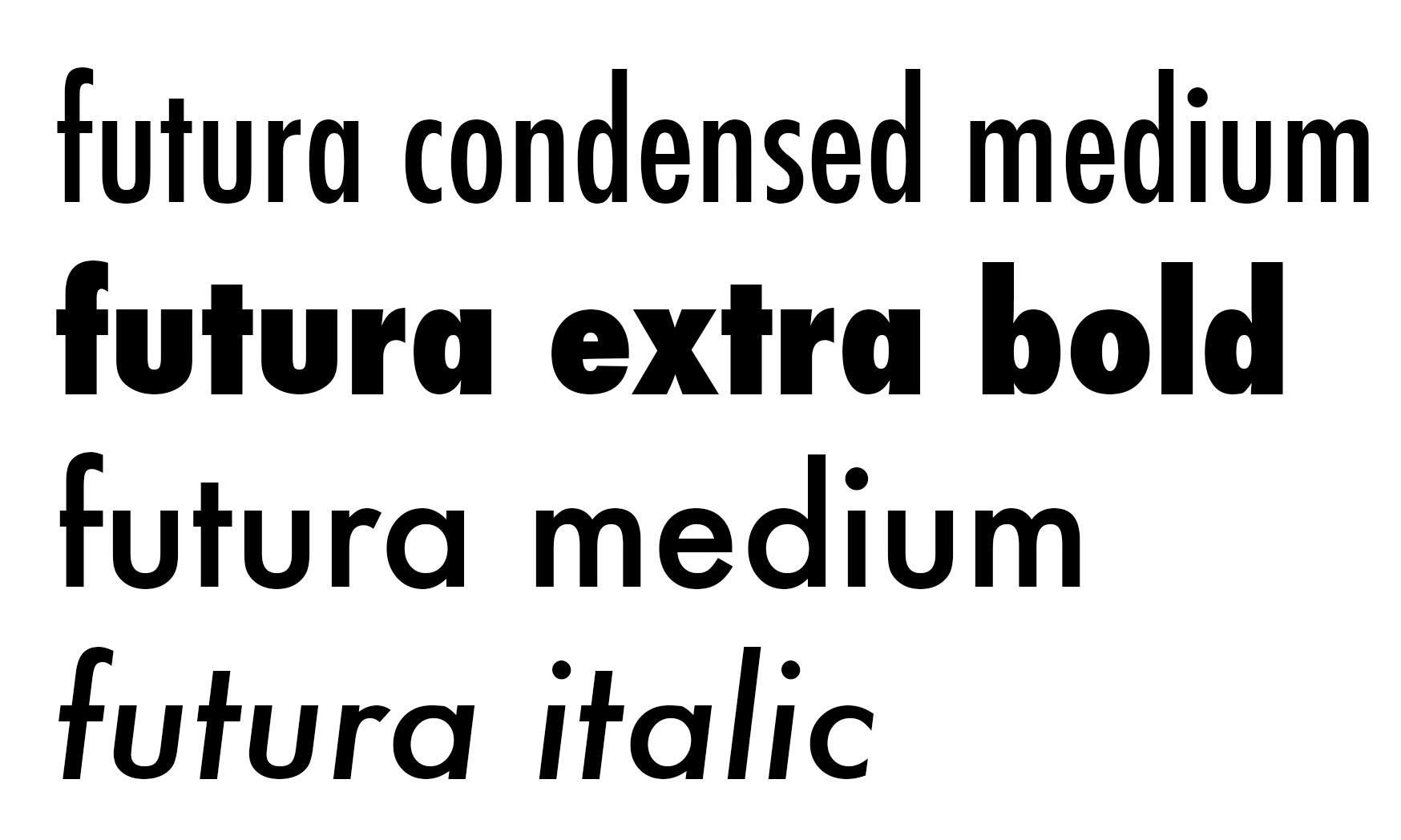 Futura Extra Bold