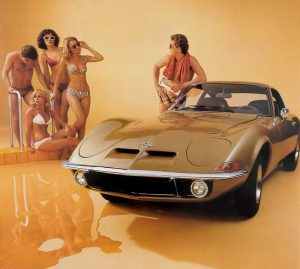 1968-1973-Opel-GT-1 with girls