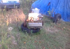 Engine in yard