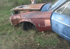 Totalled Mustang
