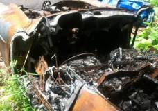 1957 Mercedes 190SL burned up and for sale on Craigslist whats left of the dash