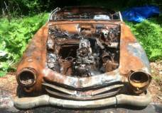 1957 Mercedes 190SL burned up and for sale on Craigslist