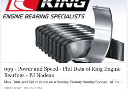 King Engine Bearings inerview