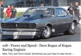 Dave Kogan of Kogan Racing Engines