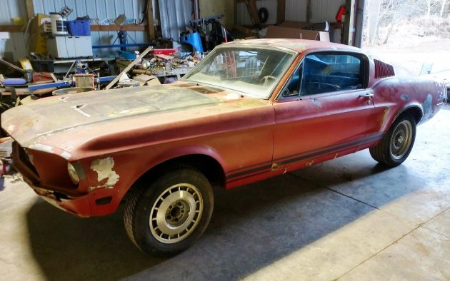 Wisconsin Barn Find 1968 Mustang Fastback Roller