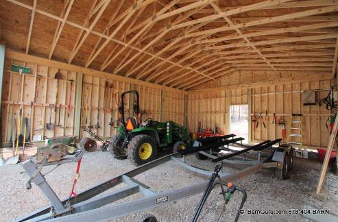 Outside Storage Buildings Built On Site. Tractor Storage ...