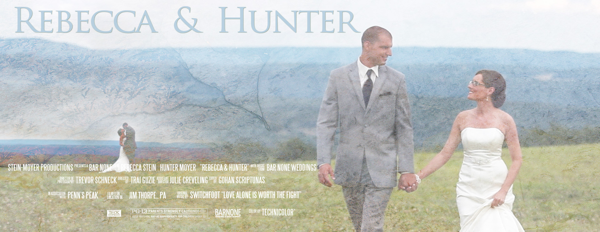Penn's Peak Wedding Highlight Film - Movie Poster - Rebecca & Hunter