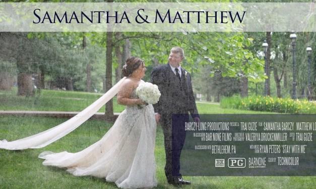 Samantha & Matthew – Private Residence – Wedding Highlight Film – Bethlehem PA