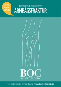armbågsfraktur bryta armbågen gips BOC barnortopedi barnfraktur barnortopediskt centrum