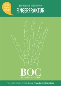 fingerfraktur bryta fingret gips behandling barnfraktur fraktur barnortopedi barnortopediskt centrum BOC