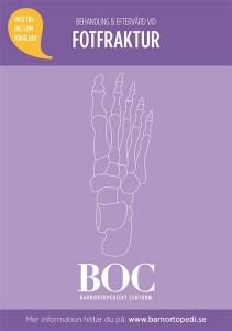 fotfraktur bryta foten gips badgips barnfraktur barnortopedi BOC barnortopediskt centrum