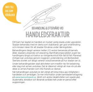 handledsfraktur barnfraktur barnortopedi barnortopediskt centrum BOC specialister eftervård gips behandling bryta handen