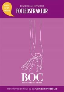 fotledsfraktur bryta foten gips behandling eftervård BOC barnortopedi barnfraktur barnfrakturmottagning Barnortopediskt centrum