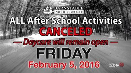 after school activites cancelled