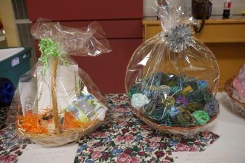 Two of the gift baskets in our auction