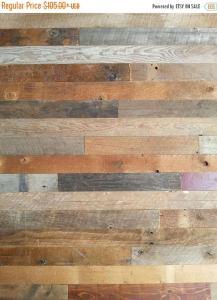 ON SALE Rustic Barn Boards Peel and Stick Adhesive Wood Wall // DIY Barn Boards // Farmhouse Rustic Barn Boards and Barn Planks / Diy Barn W