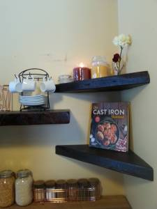 Floating Corner Shelves / Floating Shelves / Reclaimed Wood - Barn Wood / Farmhouse Shelves, Rustic Shelves, Bathroom Shelves, Open Shelving