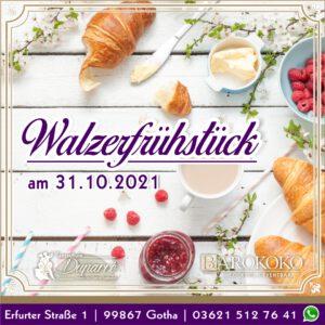 Walzerfrühstück im BARokoko in der Altstadt von Gotha