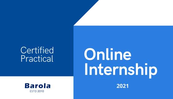 Barola Online Internship Poster