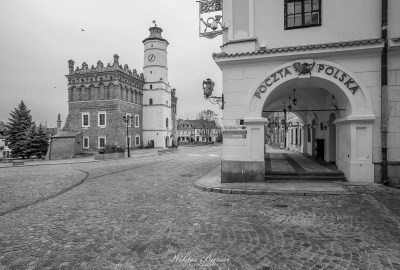 Sandomierz Rynek w starym mieście.