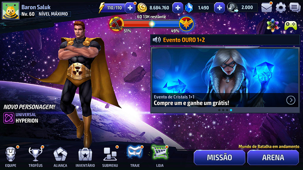 Nova Interface Marvel Future Fight 2.2