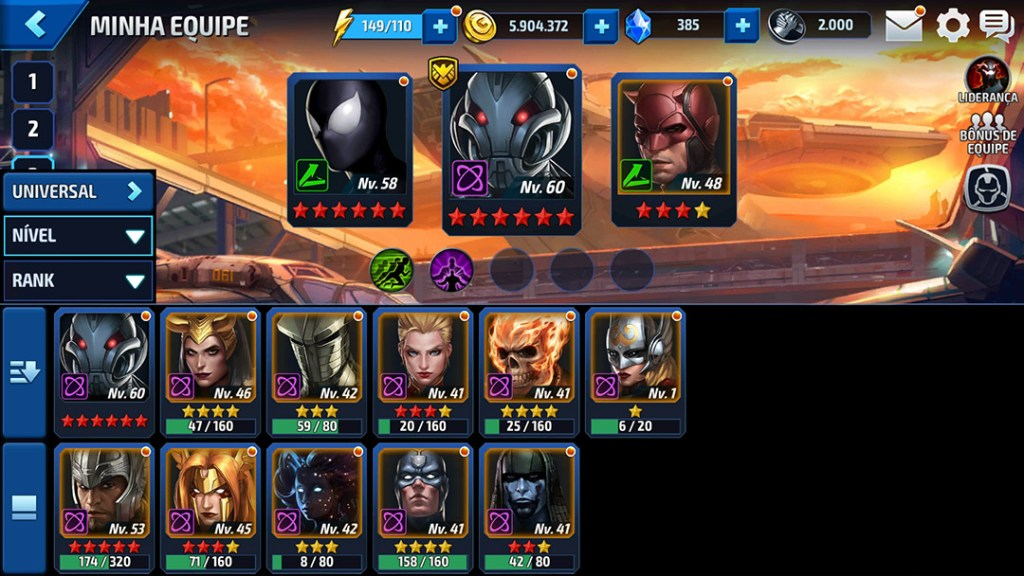 novos filtros Marvel Future Fight