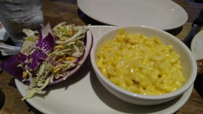 Addictive peanut slaw and mac 'n cheese