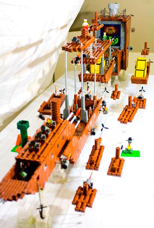 Baron Von Brunk S Website The Fireflower Lego Super Mario Bros 3 Airship Model