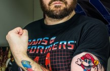 The Man with the Plumber Tattoo