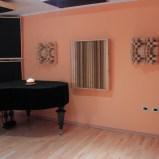 Studio back wall