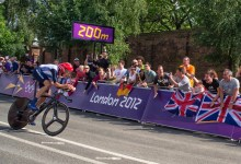 Wiggins bringing it home. 200M from Gold - Image by Denis Yeo