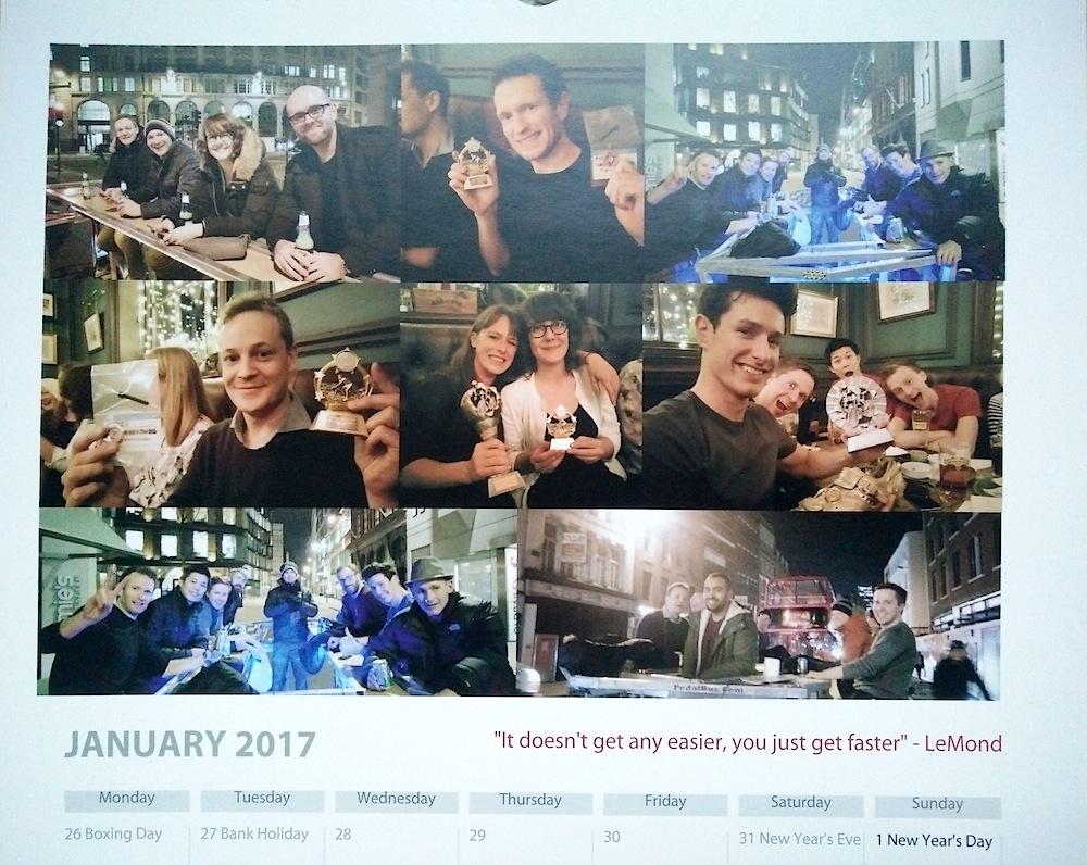 Baroudeurs Calendar 2017 January
