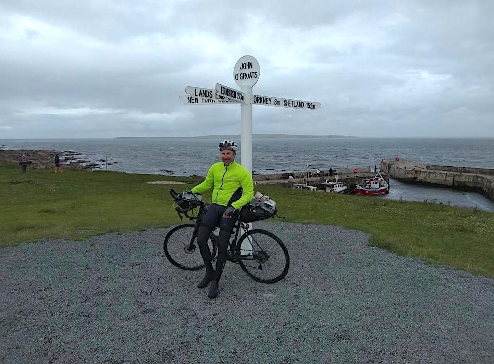 Jamie's LEJOG Day 4: Arrival - and Jamie looks fresh enough to ride back home