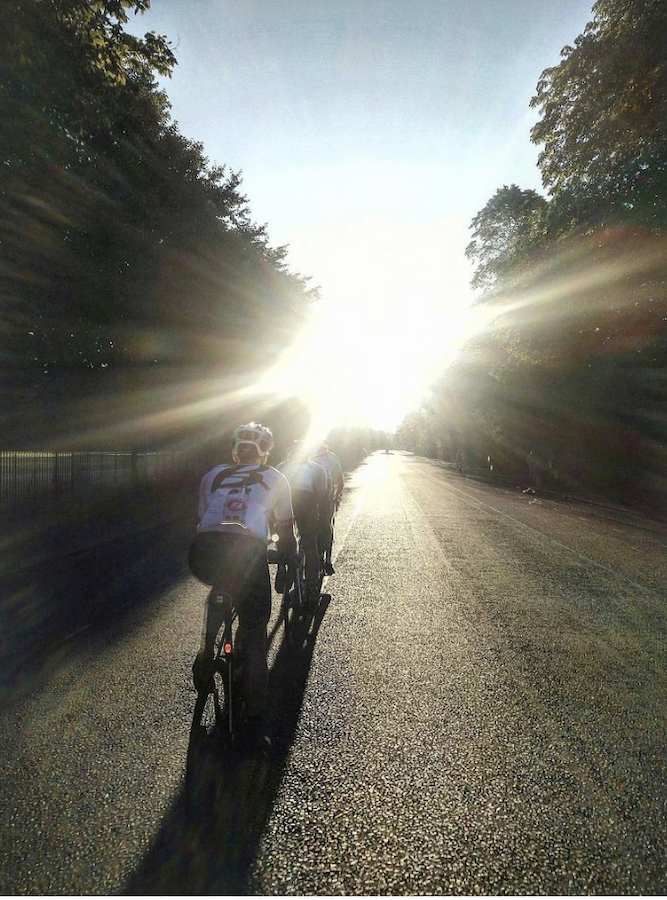 Jamie, aka 'Magic': brings the light to team rides