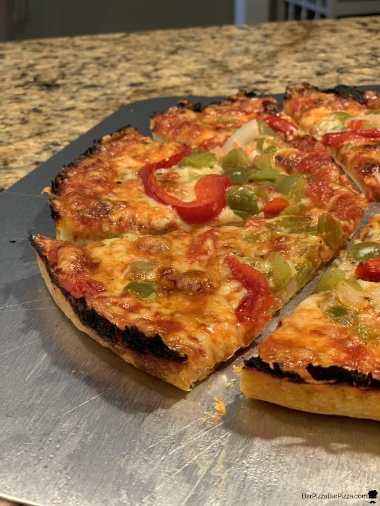 Homemade Bar Pizza Slices - Pepper and Onion