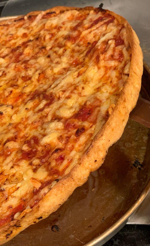big crust homemade bar pizza