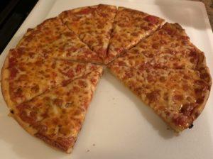 Mild and sharp cheddar blend plain cheese bar pizza