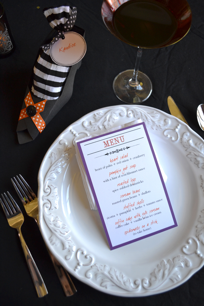 halloween party dinner menu