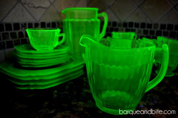 radioactive glass
