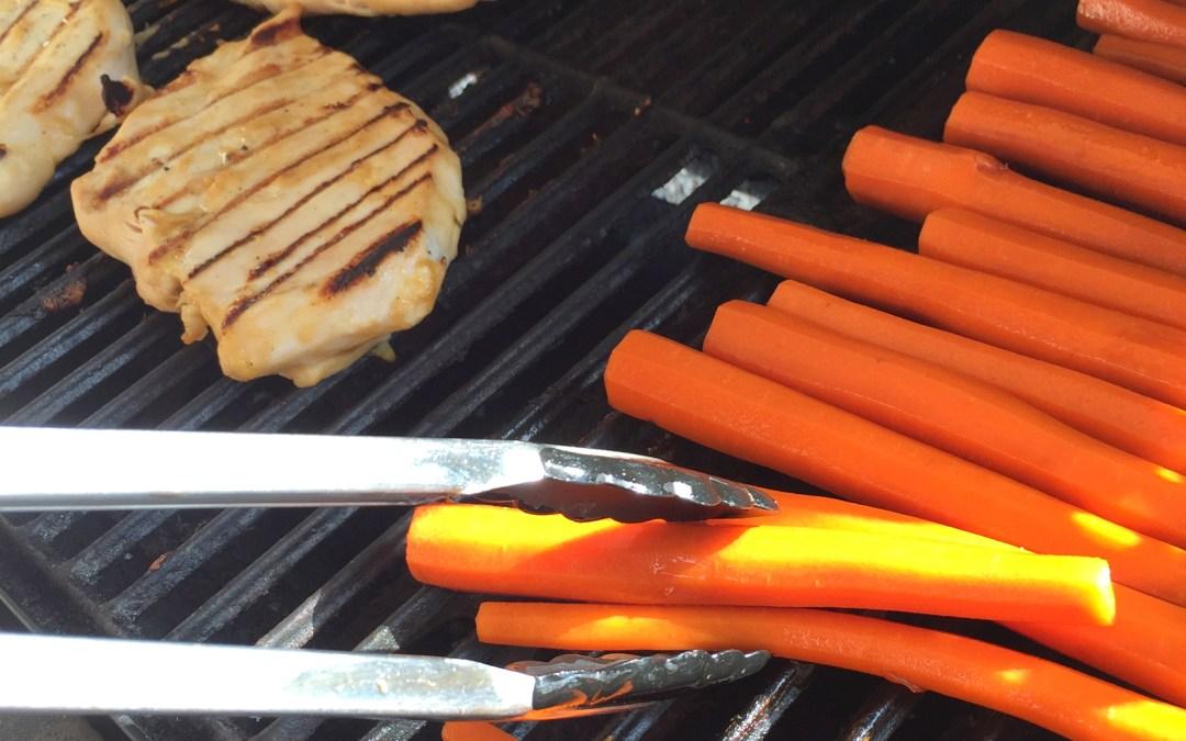 Balsamic Honey Glazed Grilled Carrots