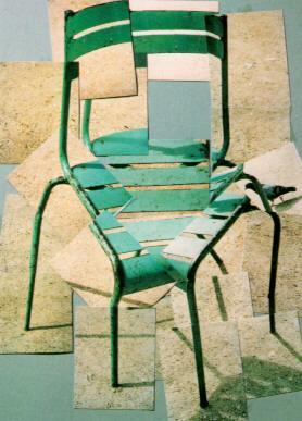 """David Hockney, """"Chair"""" Photo Collage (1985)."""