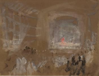 Venice: The Interior of a Theatre circa 1840 by Joseph Mallord William Turner 1775-1851