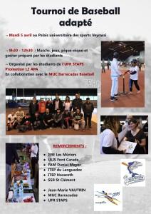 Tournois de baseball adapté Montpellier