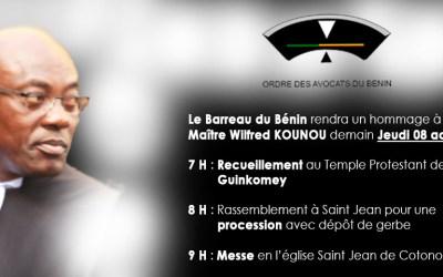 Maître Wilfred KOUNON rappelé à Dieu !